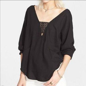 Free People Just Cruisin Black Top Size Small